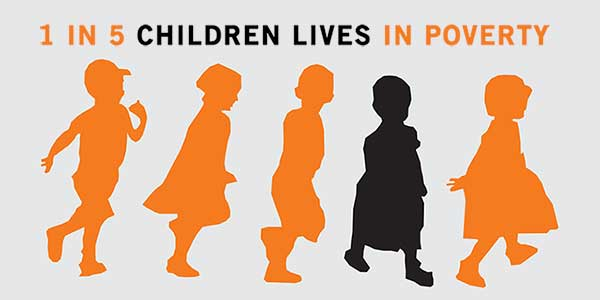 the growing problem of child poverty in the united states Over the past 45 years, the united states has experienced an ever-growing  of  the non-elderly poor 176 percent of all children lived in households with.